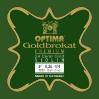 Corda Mi Violino 4/4 – Optima Goldbrokat  Ouro 24K - Ball End - Média