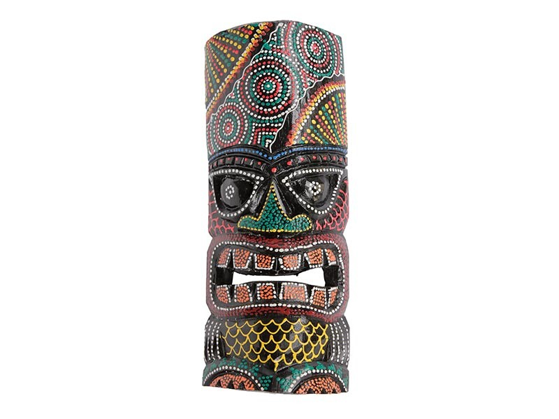 Máscara Tiki Colorida 30cm