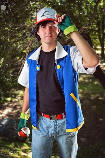Fantasia Pokémon Ash 4 pçs Adulto Cosplay