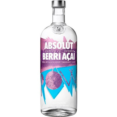 Vodka Absolut Berri Açaí - 1000ml