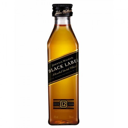 Whisky Johnnie Walker Black Label - 12 Anos - Miniatura - 50ml