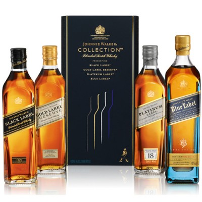Kit Whisky Johnnie Walker Collection New - 4 x 200ml