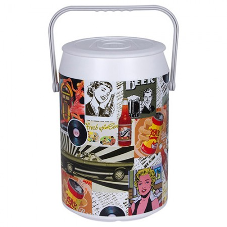 Cooler Retrô Color - 24 Latas - Anabell Coolers