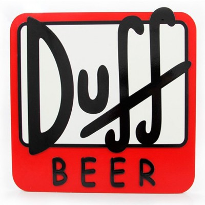 Quadro Decorativo - 40 x 40 - Duff Beer