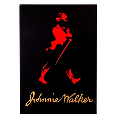 Quadro Decorativo - 45 x 32 - Preto - Johnnie Walker