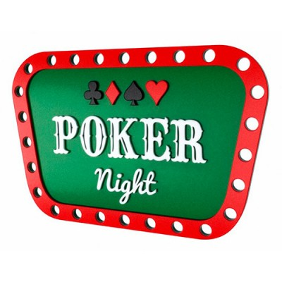 Quadro Decorativo - 26 x 40 - Poker Night