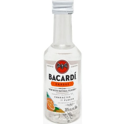 Rum Bacardi Orange - Miniatura - 50ml