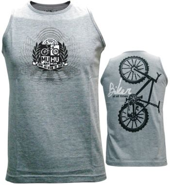 cod.0039<br/>Regata<br/>Biker at all times<br/>Cinza Mescla