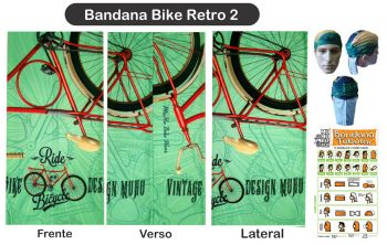 cod. 7024<br/>Bandana<br/>Bike Retro 2 MUHU