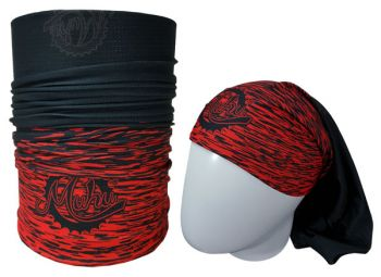 cod. 7055<br>Bandana<br>SOLID COLOR BLACK RED<br>(Tons de Preto/Vermelho)