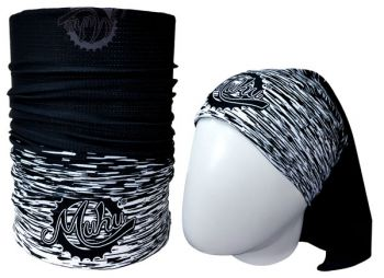cod. 7056<br>Bandana<br>SOLID COLOR BLACK WHITE<br>(Tons de Preto/Branco)