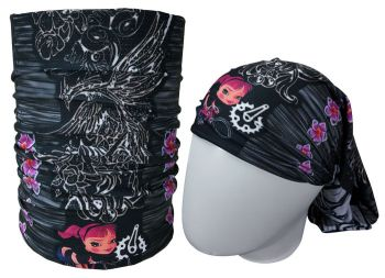 cod. 7046<br>Bandana<br>TATOO FEME Black MUHU