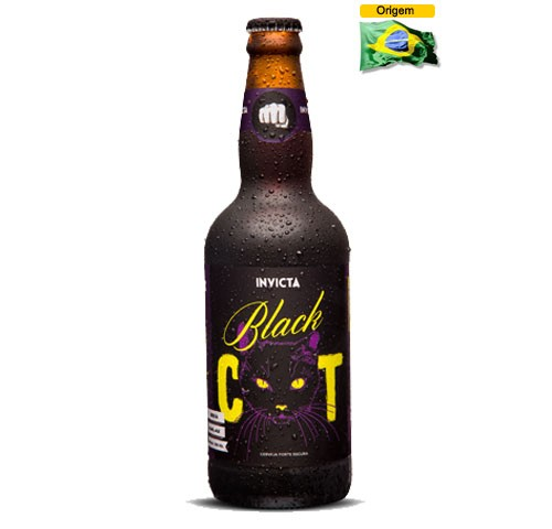 Cerveja Invicta Black Cat 500 ml