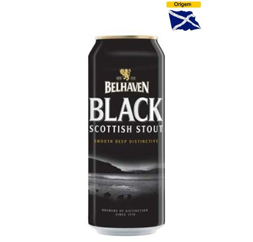 Cerveja Belhaven Black Scottish Stout 440 ml Lata
