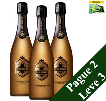 Cerveja Golden Queen Bee 750 ml (com ouro 24K) - Pague 2 Leve 3