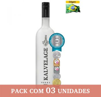 Vodka Kalvelage 750 ml - Caixa com 3