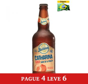 Cerveja Blumenau Catharina Sour - Sun of a Peach 500 ml - Pague 4 Leve 6