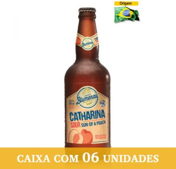 Cerveja Blumenau Catharina Sour - Sun of a Peach 500 ml - Caixa com 6