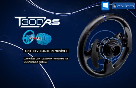 VOLANTE T300 RS Thrustmaster, PS4, PS3 e PC.  - foto principal 1