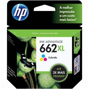 Cartucho de Tinta HP 662 XL Tricolor - CZ106AB - Original