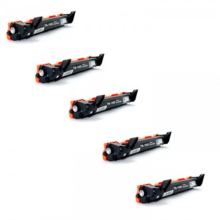 Kit 05 toners TN1060  Toner Brother Preto / Black - Compatível 100% Novo