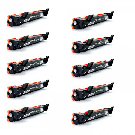 Kit 10  toners TN1060  Toner Brother Preto / Black - Compatível 100% Novo