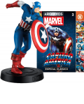 Miniaturas Marvel Fact Files Clássicos Capitão América