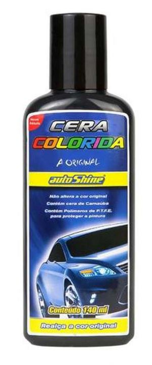 Cera Colorida Colorshine Preta Autoshine (140 ml)