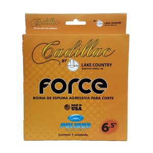 Boina de Espuma Laranja Agressiva para Corte - Force Cadillac by Lake Country (6,5 polegadas)