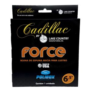 Boina de Espuma Preta Macia Lustro - Force Cadillac by Lake Country (6,5 polegadas)