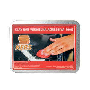 Clay Bar Vermelha Agressiva Kers (160g)