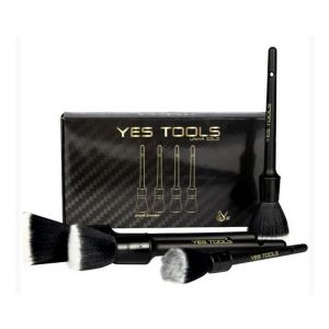 Kit de com 4 Pinceis Premium para Detalhamento Automotivo - Yes Tools