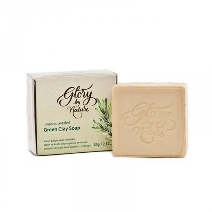 Sabonete Natural e Vegano de Argila Verde - Glory by Nature - 80gr