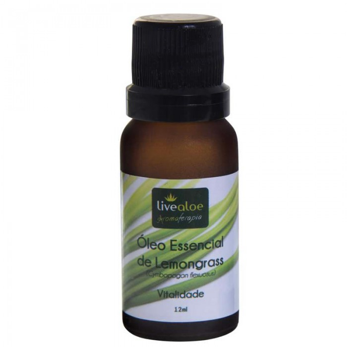 Óleo Essencial de Lemongrass -  Livealoe - 12ml