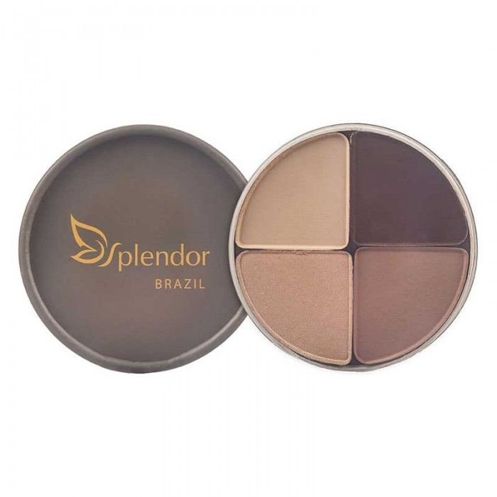 Quarteto de Sombras Natural e Vegano 360 - Nude Luminous - Splendor/Glory By Nature - 10g