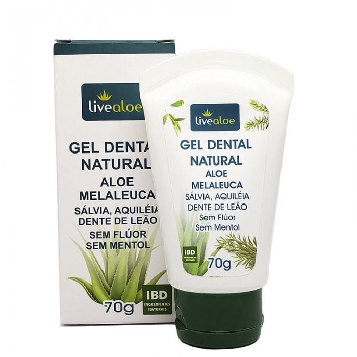 Gel Dental Natural Aloe Melaleuca - Livealoe - 70gr