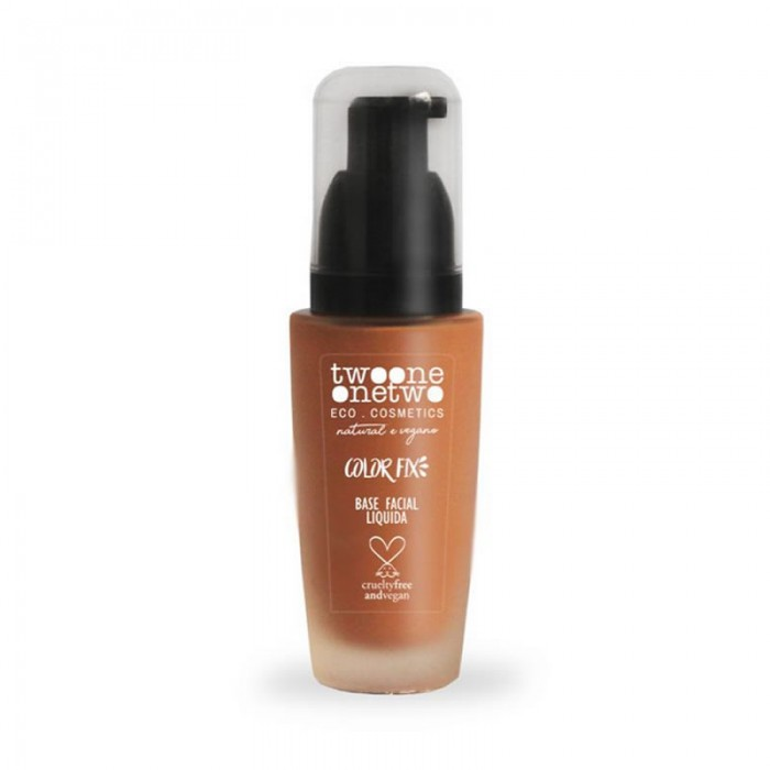 Base Facial Natural Vegano Color Fix 773.06 - Light Brown -Twoone Onetwo Makeup - 40gr