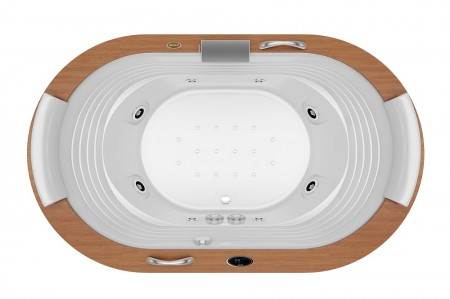 Foto aérea Jacuzzi Europe Wood Sem Blower 1,84 x 1,12 x 0,64m - 8 Jatos