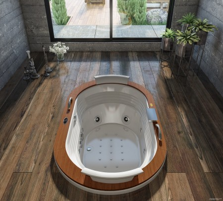 foto decorada Jacuzzi Europe Wood Sem Blower 1,84 x 1,12 x 0,64m - 8 Jatos