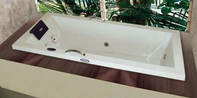Banheira Hidromassagem Pietá Single Jacuzzi 1,80 x 0,80 x 0,50 7 Jatos