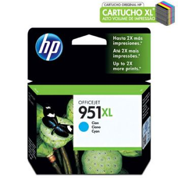 Cartucho Hp 951XL Ciano CN046AB Original