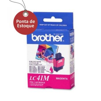 Cartucho Brother LC41M Magenta Original (Ponta de Estoque)