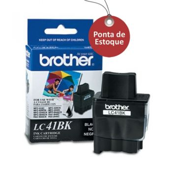 Cartucho Brother LC41BK Preto Original (Ponta de Estoque)