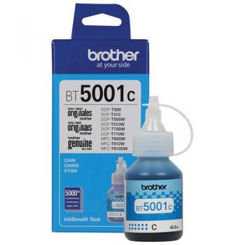 Refil de Tinta Brother 5001 Ciano BT5001C Original