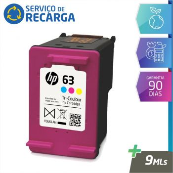 Recarga Cartucho Hp 63 F6U61AN Color