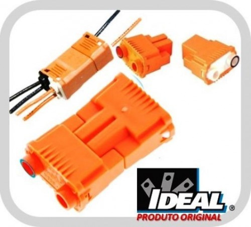 Conectores Bipolar para Luminárias PowerPlug 30-102 - 100 Und. - Ideal Industries
