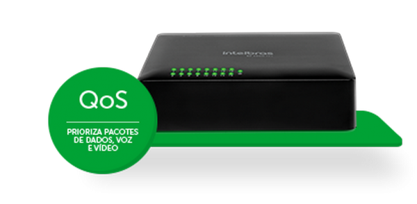 Switch Desktop PoE 16 Portas 10/100 Mbps SF 1600 Q+ - Intelbras  - foto principal 5