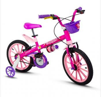 Bicicleta Nathor Aro 16 com cesta Top Girls