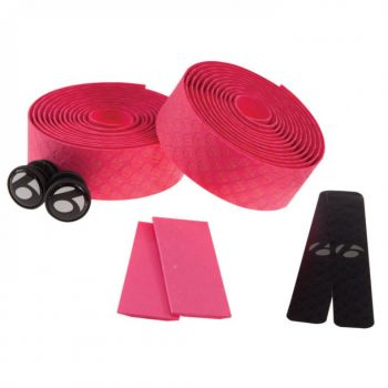 Fita de Guidão Bontrager Speed Road Cortiça com Gel Tape - Rosa