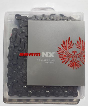 Corrente Sram PC - NX Eagle 12v (126 Links) - 1x12 Compatível GX, X01 e Xx1